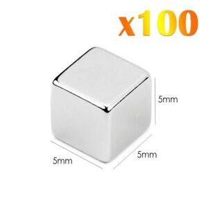 100-x-Neodymium-Cube-Magnets-Super-Fort-Magnetic-Rare-Terre-Block-NdFeb-N42