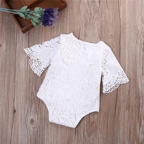 Floral Lace Newborn Infant Baby Girl Bodysuit Romper Jumpsuit Clothes Outfits KS