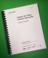 Laser Printed Sony Fdr Ax1/ax1-e Video Camera 68 Page Owners Manual Guide