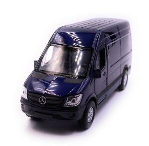 Mercedes-Benz-SPRINTER-Panel-Van-Azul-Coche-Modelo-Coche-Escala-1-3-4-con-licencia