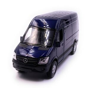 Mercedes-Benz-Sprinter-Panneau-Van-Bleu-Maquette-de-Voiture-Auto-Echelle-1-3-4