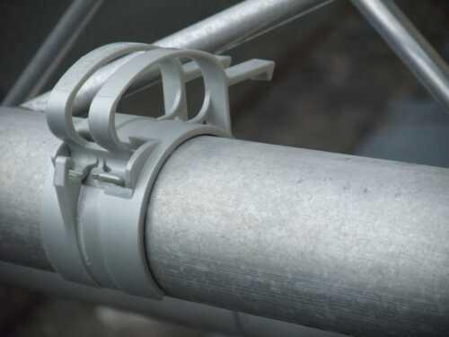 pantallas paréntesis abrazadera The snap gris cable borna con soporte enchufes