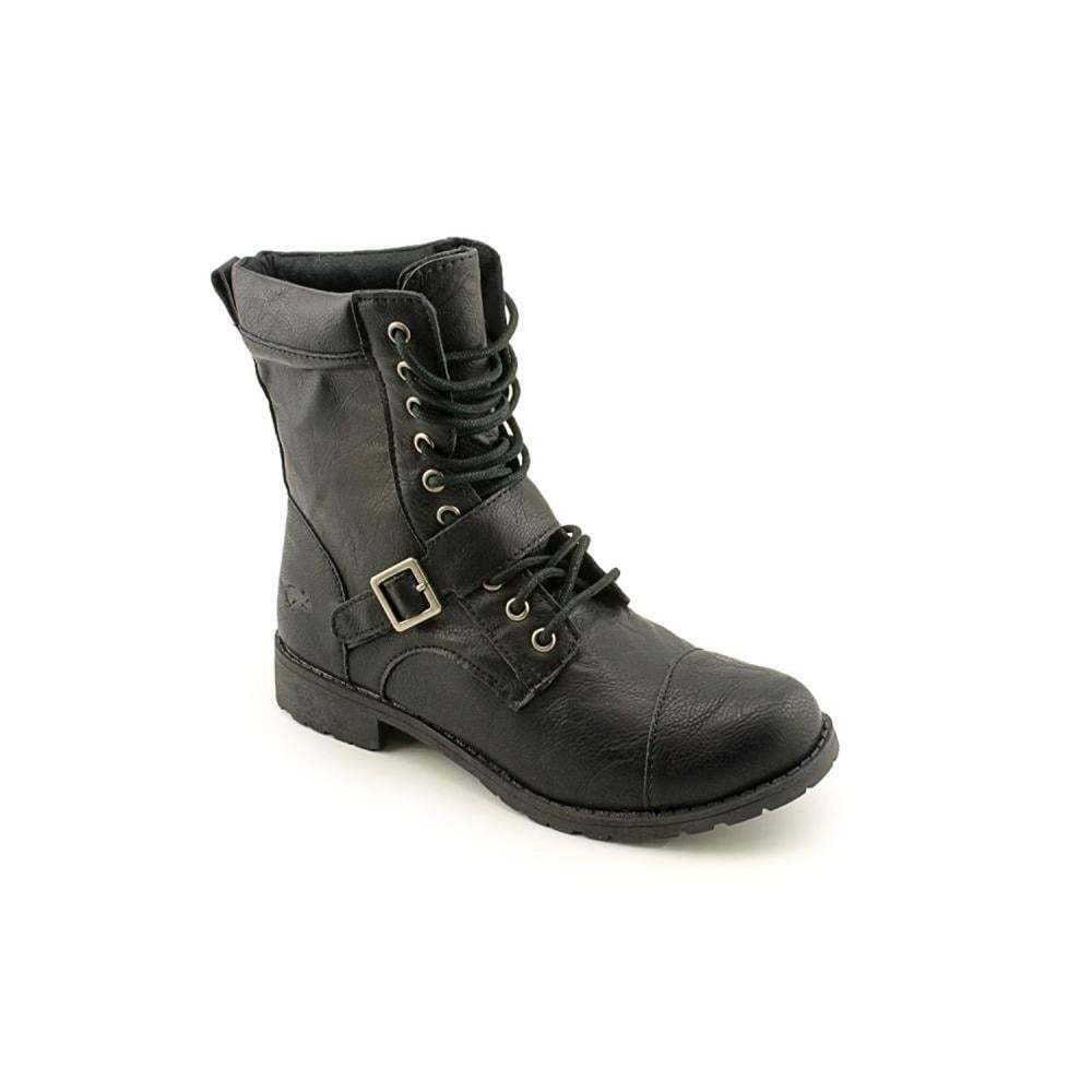Womens Girls Rocket Dog Birmingham Military Combat Lace Up Ankle Boots Black New