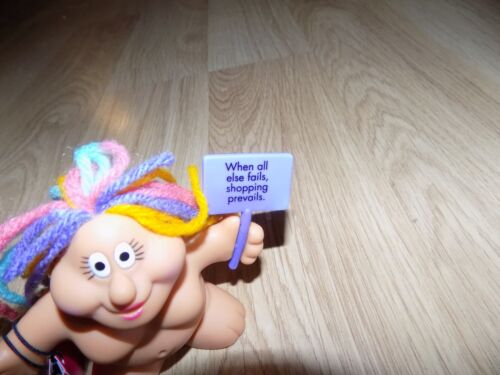 """3/"""" Russ Chubby Lady Troll PVC Figure Cake Topper WHEN ALL ELSE FAILS SHOPPING"""