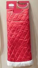 "Tree Skirt Red Quilted Look Fun Fur Edge~MRSP $24.99~48"""