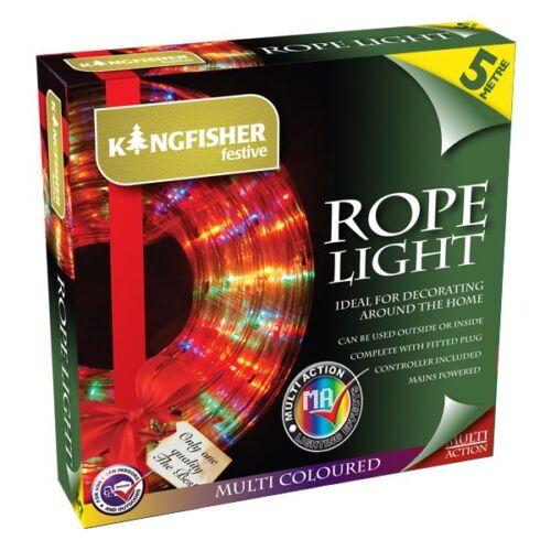 5M 6M 10M DECORATIVE ROPE LIGHT FLASHING MULTICOLOUR FESTIVE CHRISTMAS LIGHTS
