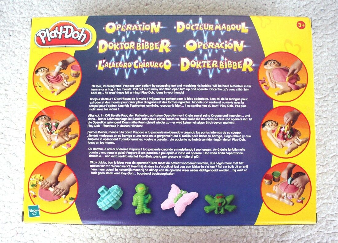PLAY-DOH  FIX ME UP DOC DOC DOC (HASBRO 2003  OPERATION PACIENTE SONRIENTE) MINT NEW OS fa2b45