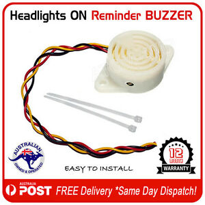 Auto-Headlights-On-Reminder-Warning-Buzzer-Alarm-AU-FREE-POST