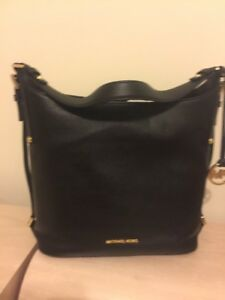 2ce61a98e1fa NWT AUTH MICHAEL KORS BEDFORD BELTED LARGE LEATHER SHOULDER BAG- 298 ...