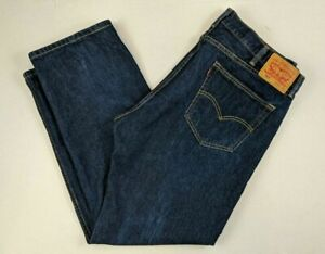 Levis-Men-039-s-505-Straight-Leg-Regular-Fit-Denim-Jeans-Dark-Wash-40-x-L30-2
