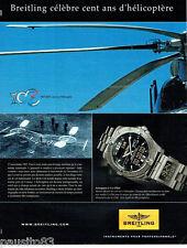 PUBLICITE ADVERTISING 046  2007  Breitling  montre Aerospace CO-Pilot Paul Cornu