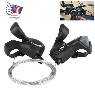 SL-TX30 3//6//7//18//21 Speed MTB Mountain Bike Thumb Speed Gear Shift Lever Set
