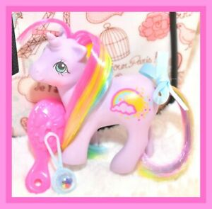 My-Little-Pony-MLP-G1-VTG-BABY-RAINRIBBON-Rainbow-Ponies-Purple-Unicorn