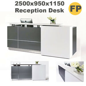 Image Is Loading Stylish Office Reception Counter Desk Width 2 1m