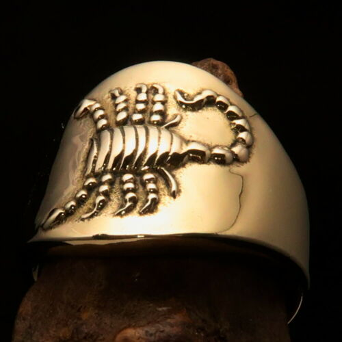 Details about  /Excellent crafted Men/'s Zodiac Ring Star Sign Scorpio nice Details
