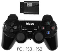 2.4 GHz Wireless USB 3 in 1 Gaming Game Controller for PS2 PS3 PC Desktop Laptop