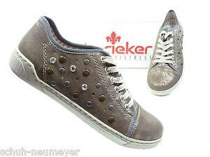 Rieker-Damenschuhe-Halbschuhe-Sneaker-in-Metallic-Braun-42427-90