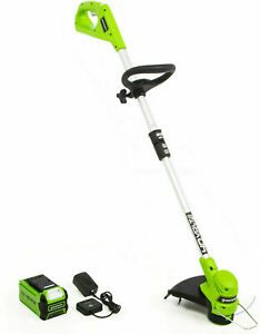 NEW-STF309-Greenworks-2111702-40v-12-034-Cordless-Trimmer-w-2-Ah-Battery-amp-Charger