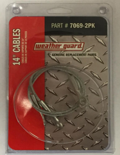 """Fits Hi-Side Boxes Weather Guard 7069-2PK - 2 14/"""" Door Support Cables"""
