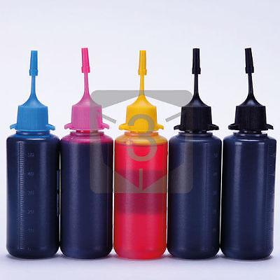 5 x 50ml Bulk Ink for HP 10 11 12 88 94 95 96 97 98 28 363 364 564 862 920 23 24