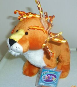 Curly-Lion-full-size-8-5in-Webkinz-plush-pet-with-sealed-unused-code-HM728