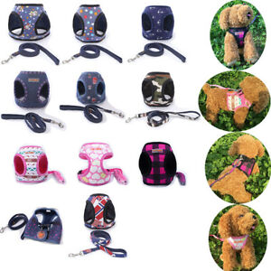 Ajustable-Arnes-del-perro-para-mascota-cachorro-plomo-Correa-Malla-Chaleco-Acolchado-no-asfixia