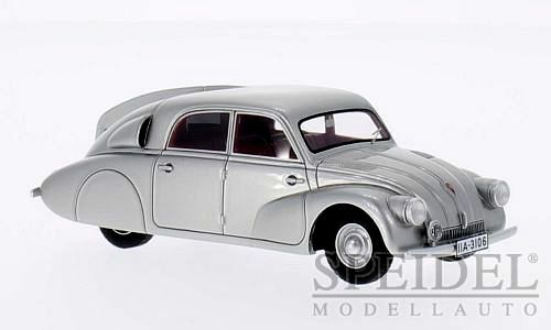 Wonderful modelcar TATRA T97 1938 - silver metallic - scale 1 43