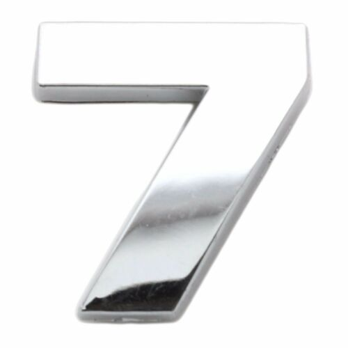 Chrome 3D Self Adhesive NUMBER 7 Car Badge Emblem Auto Home Sign Sticker Decal