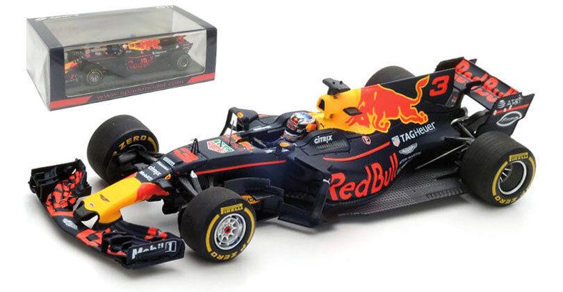 SPARK S5036 rosso BULL RACING RB13 Spanish GP 2017-Daniel Ricciardo 1/43 SCALA