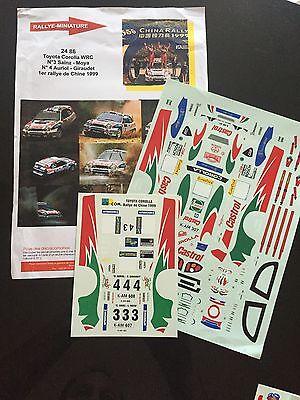 RALLYE DE CATALOGNE 1999 DECALS 1//43 TOYOTA COROLLA WRC #24 D43064 ISIK