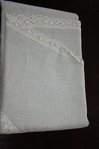 Details about natural authentic vintage lithuanian 100%linen round flex  tablecloth 88 5