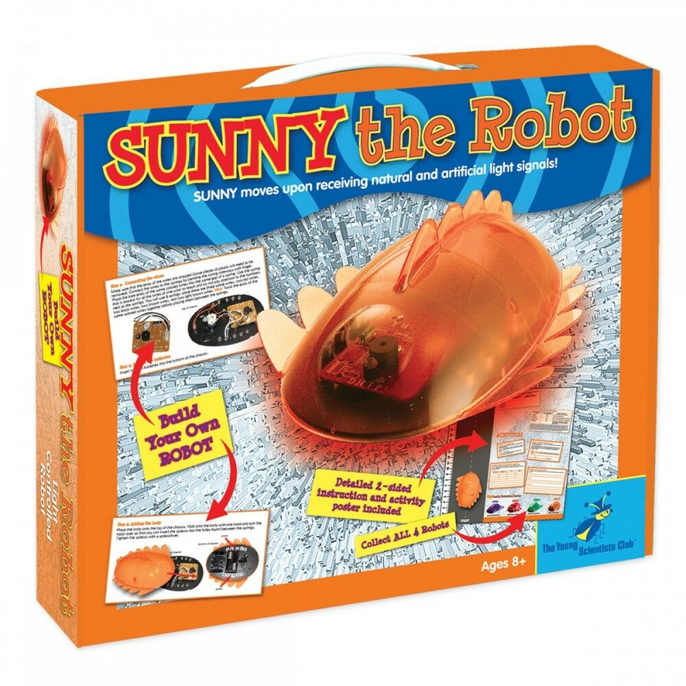 Sunny the Robot Make Your Own Robotics Kit Powered by Solar Energy for Kids