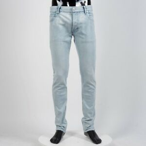 BALMAIN-895-Skinny-Jeans-In-Blue-Stretch-Cotton
