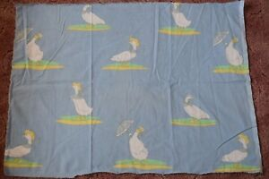 Geese-with-parasols-and-hats-fabric-remnant
