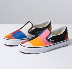 7a0ad41875 Rare! Vans Patchwork Multi-Color Slip on shoes Unisex (Sizes 7.5 ...
