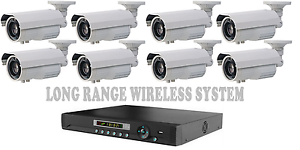 Custom Long Range Wireless & Wired Security Camera System