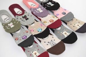 No Show Cute Lovely Donna Donna Fashion Cat Short Gufi Socks Bear Invisible zqgqSnv