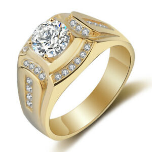 Anillo-chapado-en-oro-de-18-quilates-Anillo-de-los-hombres-de-diamante-de-z-F7X8