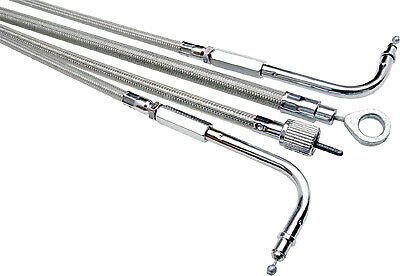 NEW MOTION PRO 66-0272 Armor Coat Stainless Steel Throttle Cable