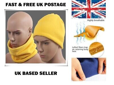 ORANGE Warmer Head Thermal Polar Fleece Snood Scarf Neck Ski Wear Mens/&Ladies