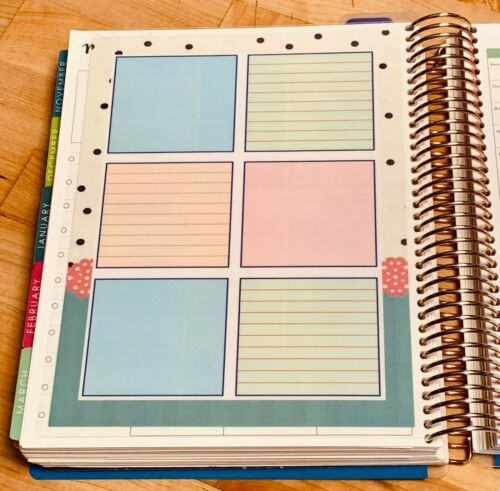 Important Dates 2 Sided Dashboard Insert for use with Erin Condren Planner
