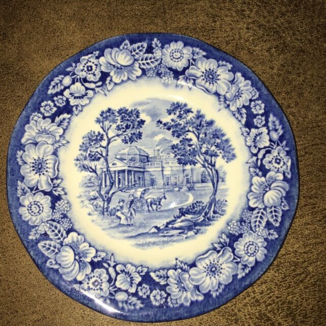 Liberty Blue Colonial Scenic Plate 6