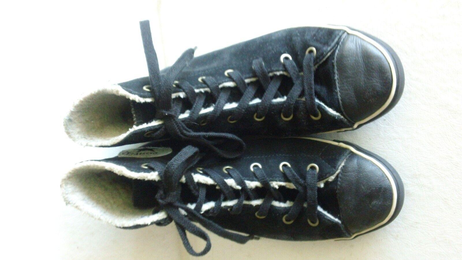 Señoras negras de de de ante Chuck Taylor All Star Converse Forrado High Top zapatillas 7.5  ahorra 50% -75% de descuento
