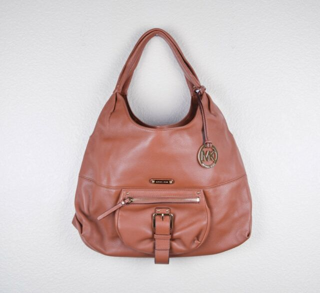 7bb0ec0fc75e Michael Kors Austin LG Leather Shoulder Bag in Luggage Brown for ...