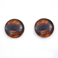 16mm Brown Horse Glass Taxidermy Eyes Jewelry Making Craft Supply