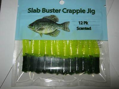 black//pearl 2 inch Slab buster crappie jig
