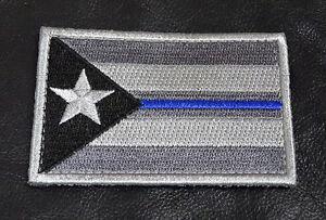 Thin Blue Line Australia Flag Patch Police SWAT VELCRO® Brand Hook Backing
