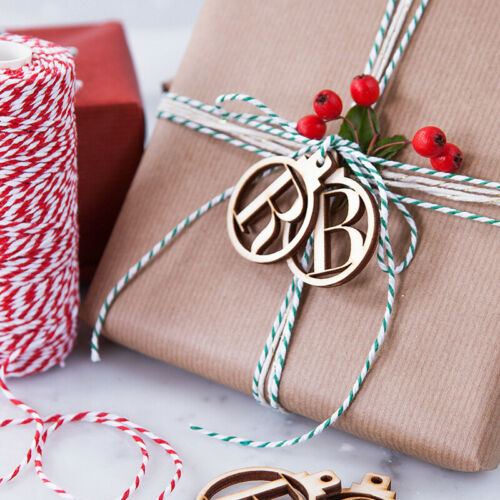 Retro Wooden Gift Tags A-Z Letters 1-25 Numbers Wooden Label Xmas Party Wedding