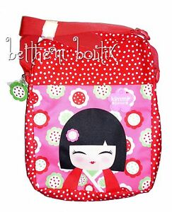 Goth-Sac-Bandouliere-Fille-Kimmi-Junior-a-Pois-Kokeshi-ROUGE-amp-ROSE-gothique