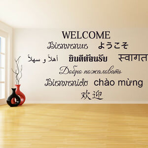 Image Is Loading Vinyl Wall Decal Welcome Word Text Quote Office